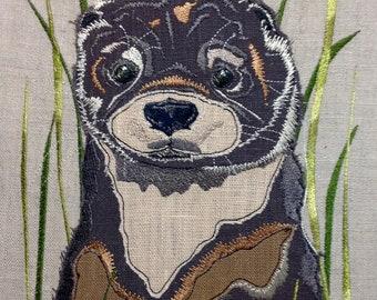 Raw Edge Applique Design 'Mr Otter'