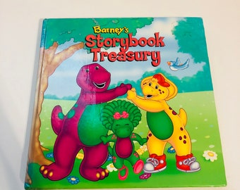 1998 Barney's Storybook Treasury Kids book with six different stories in one hardback