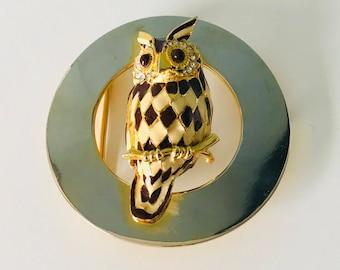 Enamel Vintage Owl Belt Buckle