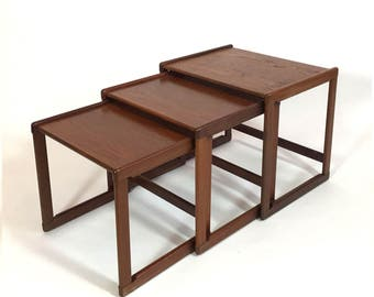 Scandinavian nesting tables, 1960-1970.