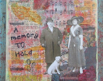 paper art mixed media a memory to hold romantic wall display upcycled art