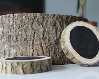 Chalkboard Wood Slice Coasters
