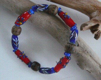 Ethnic beaded Lampwork bracelet