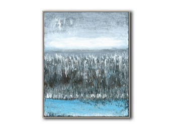 small abstract landscape original acrylic painting
