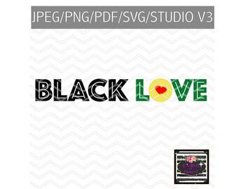 Black Love SVG