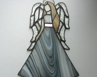 Art glass angel Suncatcher Stained glass Window decoration Memorial