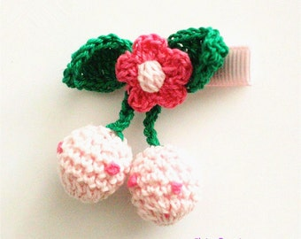 Red Cherry Pink,Knitting Wool,Hair Bow,Baby,Infant Hair Clips,Baby Pink Hairpins,Girls,Toddler