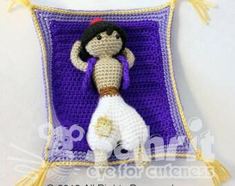 PATTERN Instant Download Aladdin Prince of The Desert Crochet Doll Amigurumi Disney Princess