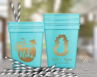 Luau Wedding Aloha Lei Party Favor Cups | social graces and Co