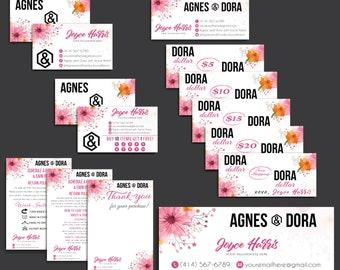 Custom Agnes and Dora Marketing Bundle, PERSONALIZED Agnes And Dora, Agnes and Dora Kit, Printable Business Card AG20