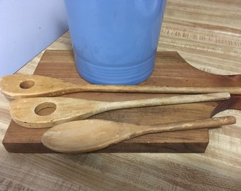 Set of  Three Wooden  Spoons