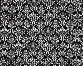 Madison White on Black Home Decor Fabric - One Yard - Premier Prints Fabric