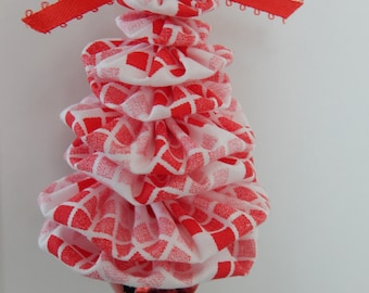 Shades of Red and White Christmas Tree Ornament