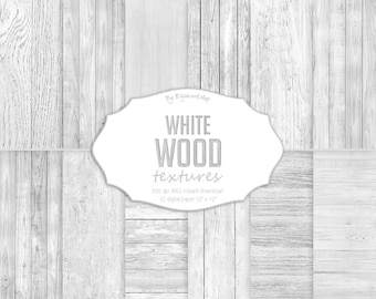 White Wood Digital Paper, White Wood Textures, digital wood backgrounds in white, gray and light colors.