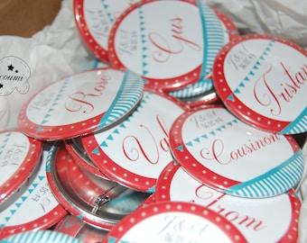 Badges / Wedding guest gift