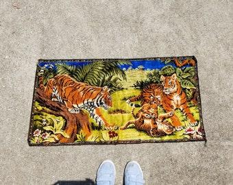 Vintage Tiger Wall Tapestry Rug