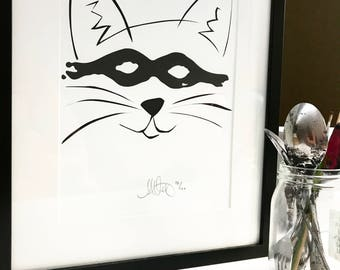 SUNNY (the Cat) - Limited Edition print (100 in total)