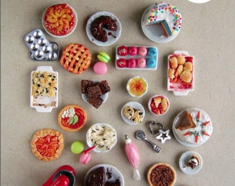 Miniature Food Polymer Clay Tutorial - How to Sculpt Miniature Bakery Treats from Polymer Clay (Dollhouse, Food Jewelry Tutorial eBook)