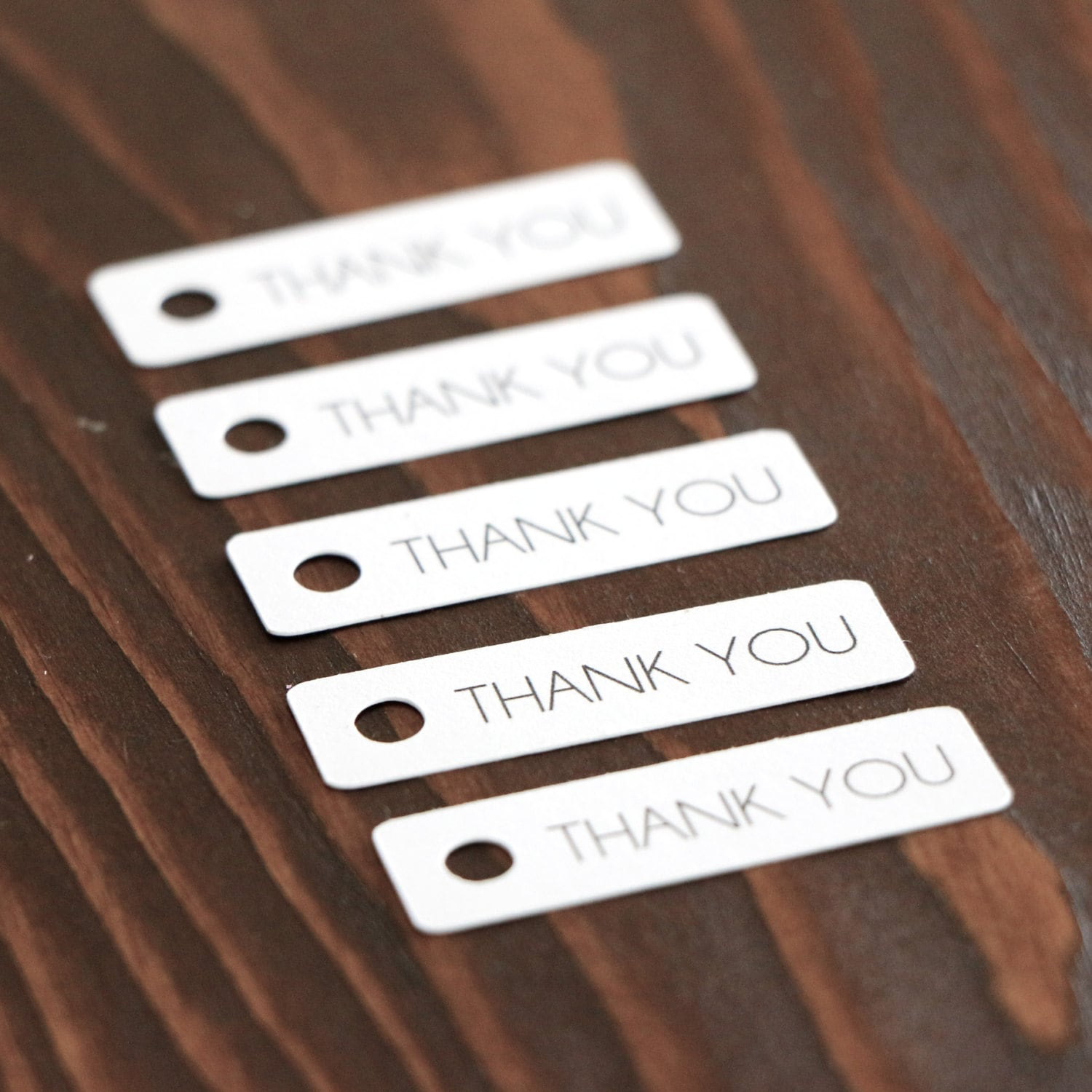 Thank You Gift Tags White Hang Tags. Wedding Favor Tags.