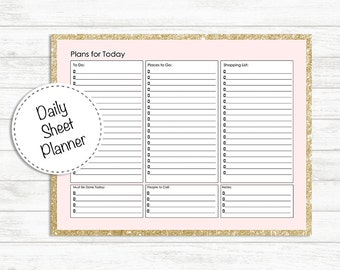 Daily Plan Sheet, Day planner, Printable Planner, Daily Planner, Every Day Planner Inserts, Plans for Today, To do list, Every Day list plan