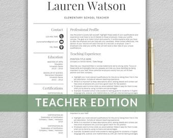 Teacher resume template for word teacher cv Instant