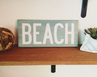 Beach Sign - Coastal Decor