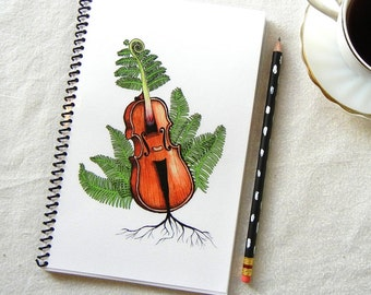 Fern-headed Fiddle Notebook