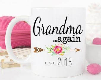 Grandma AGAIN Mug, New Grandma mug, Gift for new grandma, Grandma AGAIN Coffee Mug, Pregnancy Reveal, Gift for mom, Baby Announcement