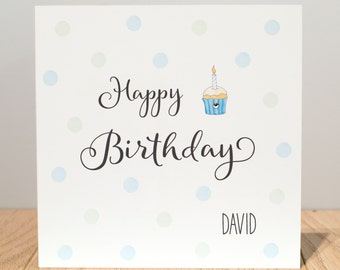 Personalised Birthday Card - Cake Birthday Card - Handmade Personalised Birthday card