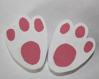 Easter bunny footprint chews