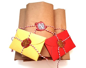 Custom Vintage Gift Packaging with your choise of Wax Seal and Handwritten Calligraphy Label