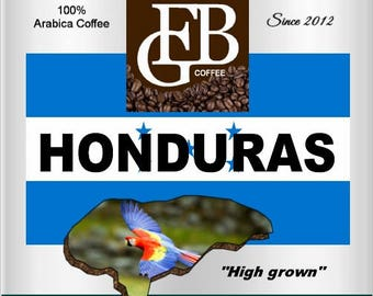 High-grown HONDURAS coffee. Beans from Central America are one of the best coffees of the region.