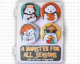 A Hamster For All Seasons Magnet Set