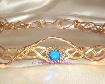Celtic Elven Eowyn circlet crown adjustable to fit any size - men and women- larp ren sca
