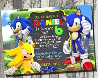Sonic invitation sonic birthday party sonic birthday sonic invitation sonic birthday party sonic birthday invitation personalized digital file filmwisefo