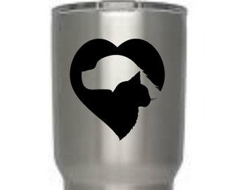 Pet love vinyl decal, Yeti decal, tumbler decal, waterproof, rtric decal, , gifts for men, gift, laptop, tablet,