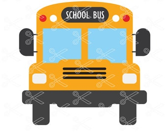 School Bus SVG, DXF, PNG, Eps Cutting Files, Bus Svg Dxf Cut File, Bus Driver Svg, School Svg Dxf, Back to School Svg, School Bus Vector