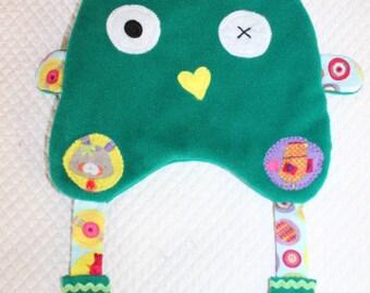 Soft CUDDLY flat fun green with big ears