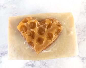 Artisian Soap Oatmeal Milk and Honey- Cold Process Soap - Vegan Soap - Shea Butter Soap Homemade Soap