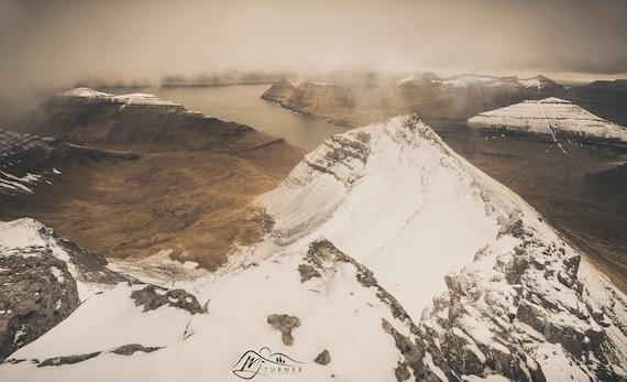 Funningsfjørður from Slættaratindur [Photographic Print]