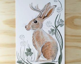 SET OF 4 Jackalope Prints - 4x6