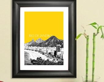 Rio De Janeiro Skyline Poster - Rio De Janeiro Brazil #3 Art Print