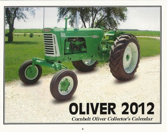 "New 2012 Oliver Cornbelt Collector's  Calendar Featuring: Cover Tractor 1959 Oliver ""Mist Green"" 880 Row Crop Tractor"