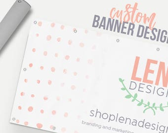 Business Banner - Custom Banner Design - Craft Show Display - Business Sign - Craft Show Sign - Event Banner - Promotional Banner Design