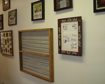 window screen,picture frame, old chicken screens, old hatchery trays,
