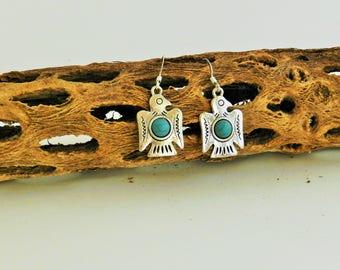 Southwest Firebird earrings