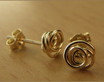 earrings 14k gold filled or silver earstuds