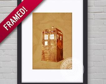 0083F Dr Who Tardis Framed Print Wallart Multiple Sizes