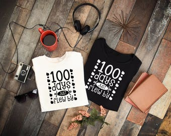 100th Day of School Teacher T-shirt, 100th day of school t-shirt, One Hundred Days Of School Shirt, Teacher T Shirts, Teacher Shirts