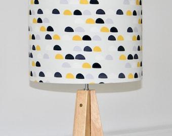 20cm, 30cm, 40cm Grey & Yellow Pebble Stone Lampshade / Ceiling Shade for Gender Neutral Nursery Room, Grey Nursery, Children's Room Bedroom